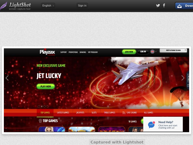 PlayZax Casino (INTL) (CPS) (Personal Approval)