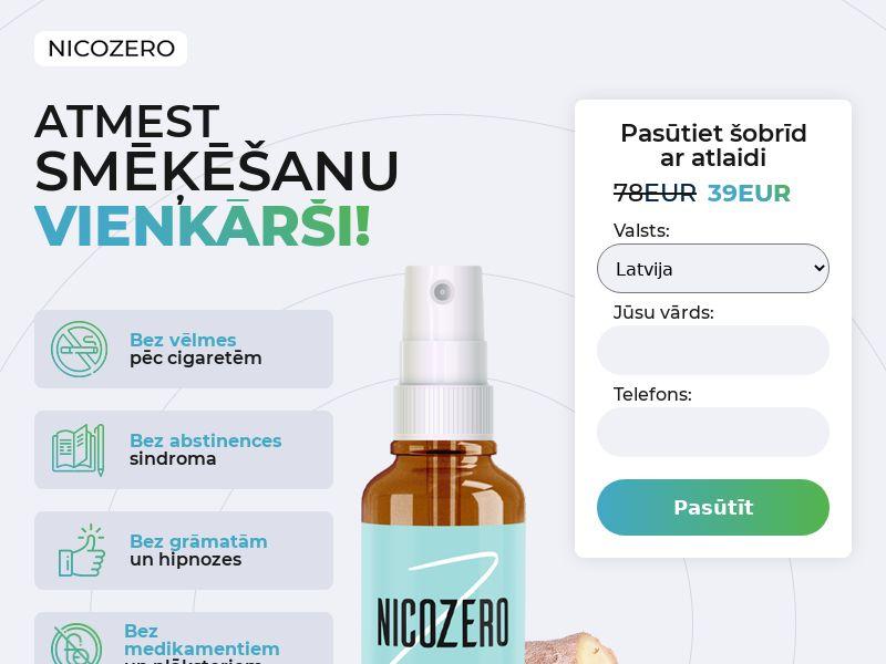 NicoZero LV - treatment for smoking