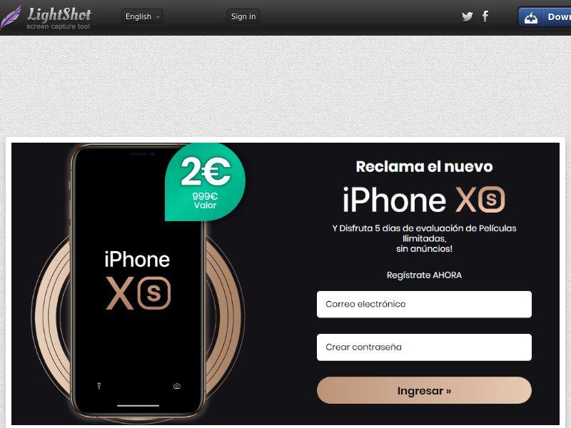 Combo Popcorn Win iPhone Xs Black Bonus (Sweepstakes) (CC Trial) - Spain