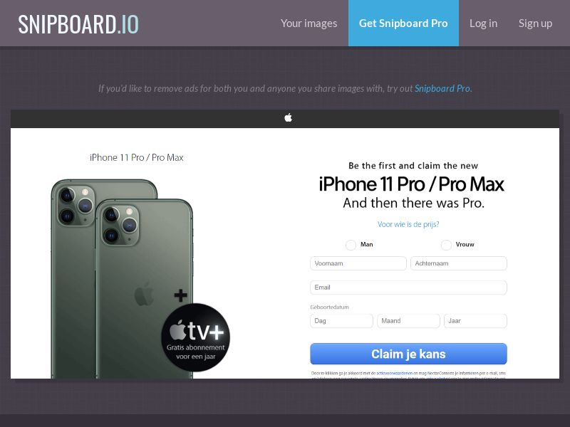 37787 - NL - NectarContests - iPhone 11 Pro - Pro Max (No Prelander) - SOI