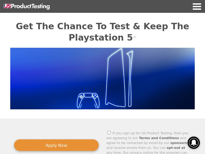 Product Testing US - Test & Keep The Playstation 5 CPL [US]