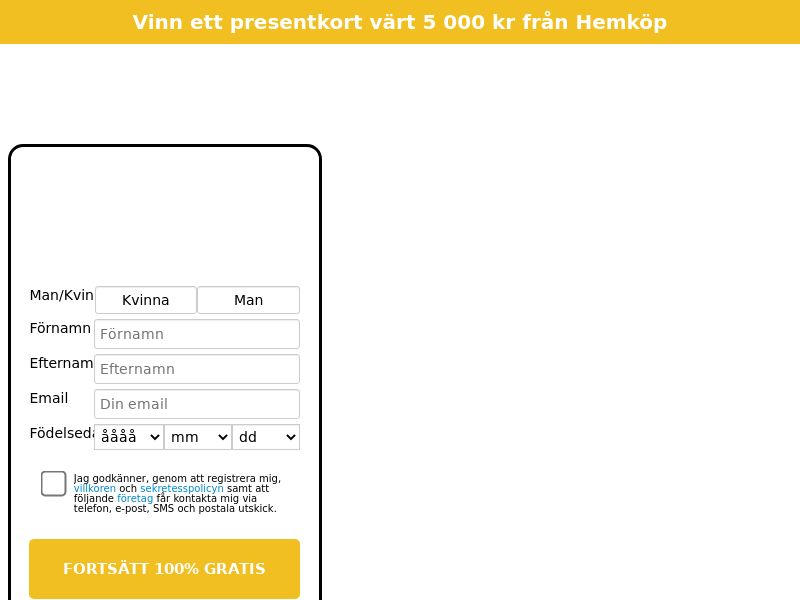12779) [WEB+WAP] Hemköp - SE - CPL