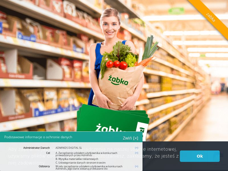 Żabka - bon 2000 zł (PL), [CPL], Health and Beauty, Food, Lotteries and Contests, Single Opt-In, coronavirus, corona, virus, keto, diet, weight, fitness, face mask, paypal, survey, gift, gift card, free, amazon