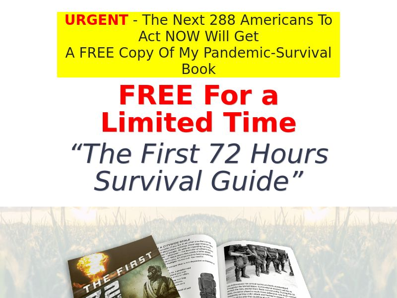 The First 72 Hours 1.97 eBook (Free + processing) (US)