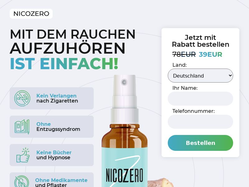 NicoZero DE - treatment for smoking