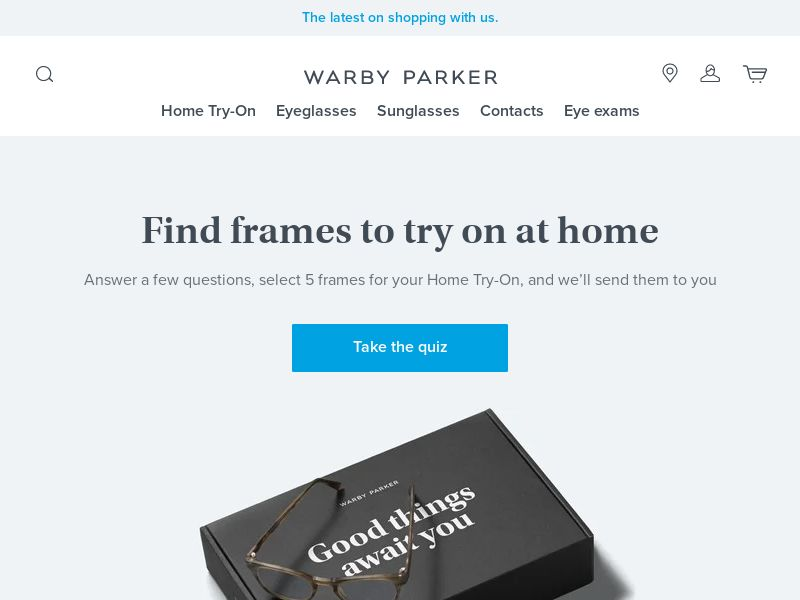Warby Parker Free Trial for Glasses - US - CPS - Mobile and Desktop traffic allowed - Converts on Trial Order