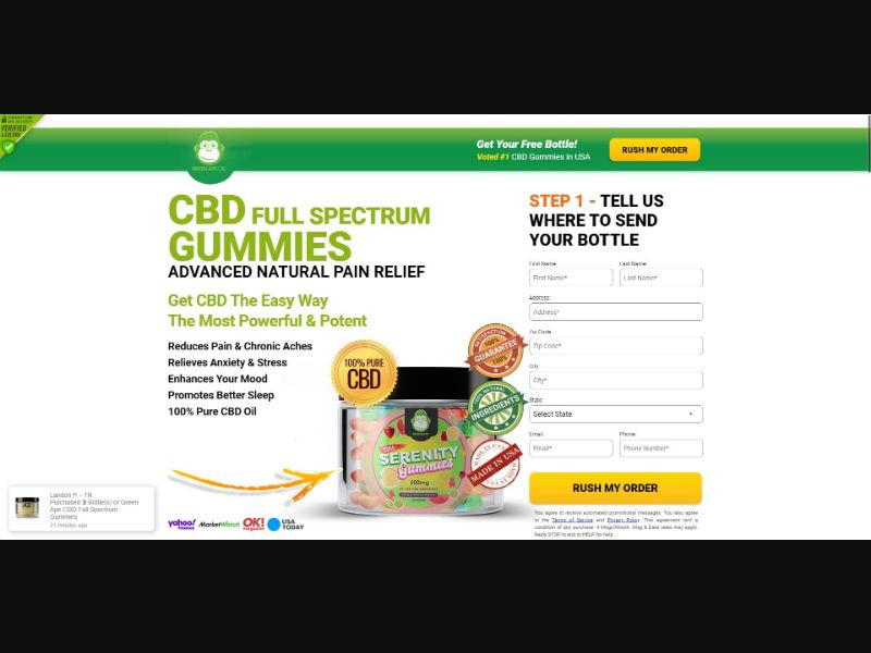 Green Ape Serenity Gummies - CBD - SS - [US]