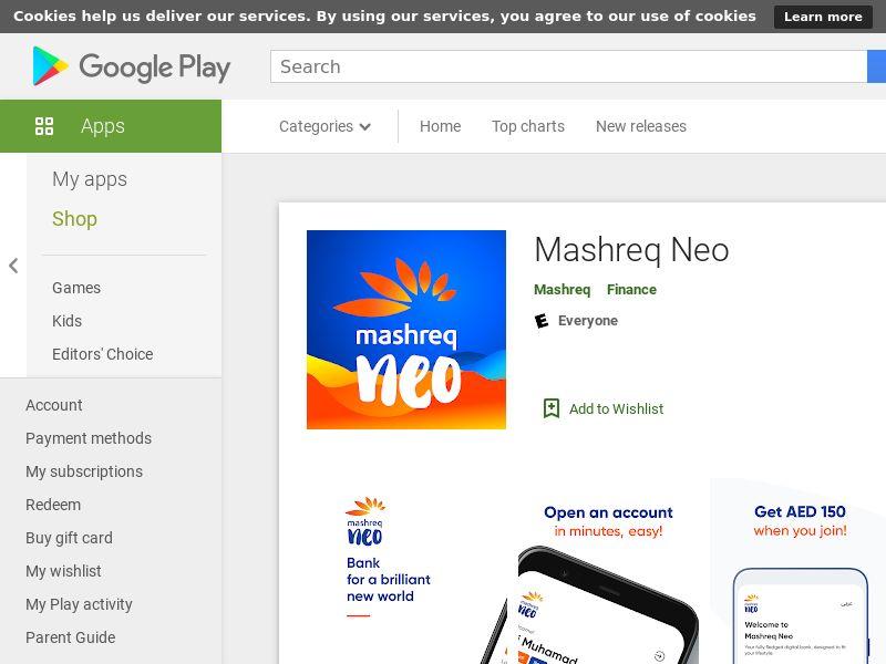 Mashreq Neo smart ACC/CPT/AOS+iOS/UAE