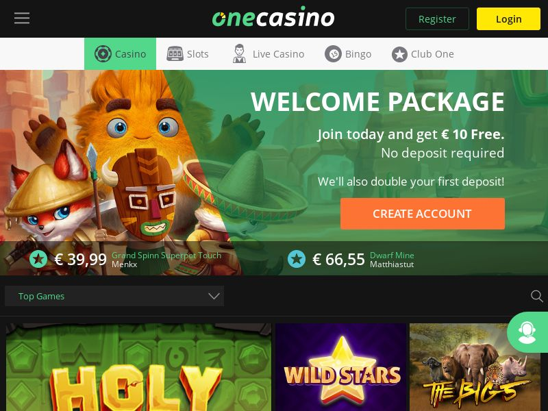 One Casino [IE] (Email,Banner,Social,Native,PPC,SEO) - CPL