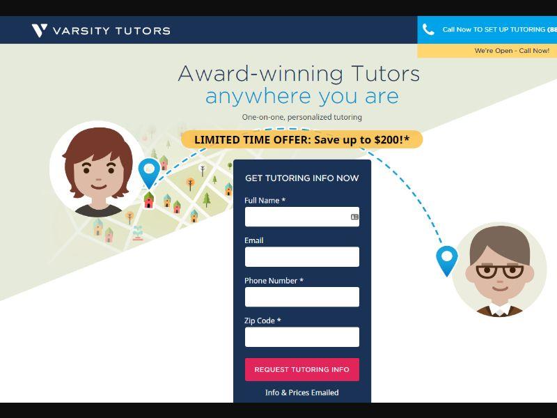 Varsity Tutors - Get Tutoring Info Now | US