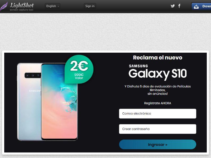 Combo Popcorn Win Galaxy S10 Black Bonus (Sweepstakes) (CC Trial) - Spain