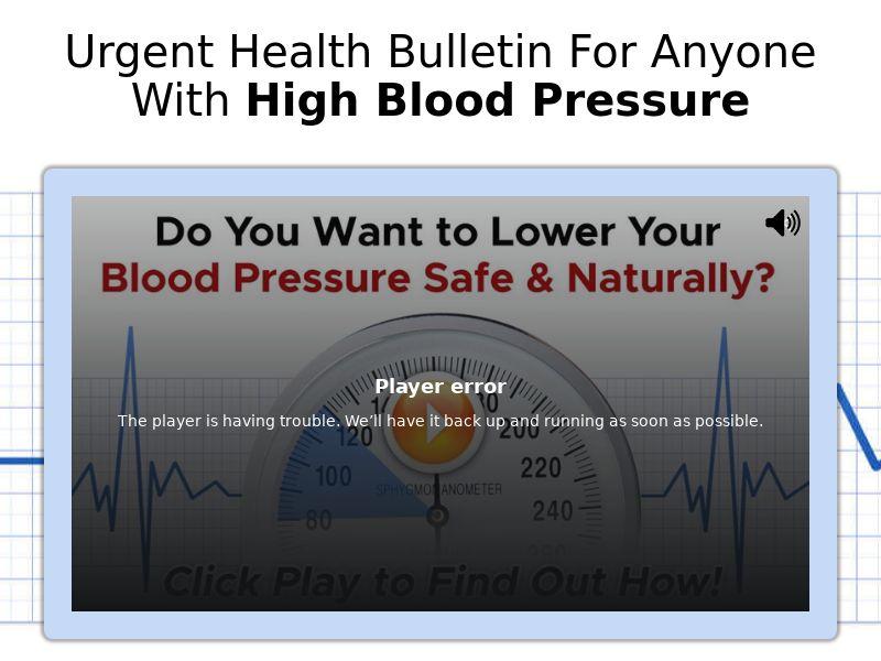 BPS-5 - High Blood Solution [US] (Native,Social,Display) - CPA {No Email | No Brand Bidding}