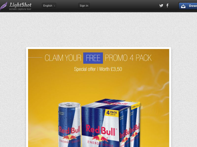 Portal Leads - Red Bull 4 pack (UK) (CPL) (Personal Approval)