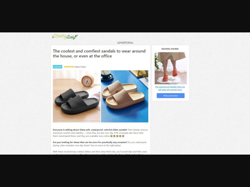Quickdry Sandals - Presell Page - eComm / Other - SS - [143 GEOs]