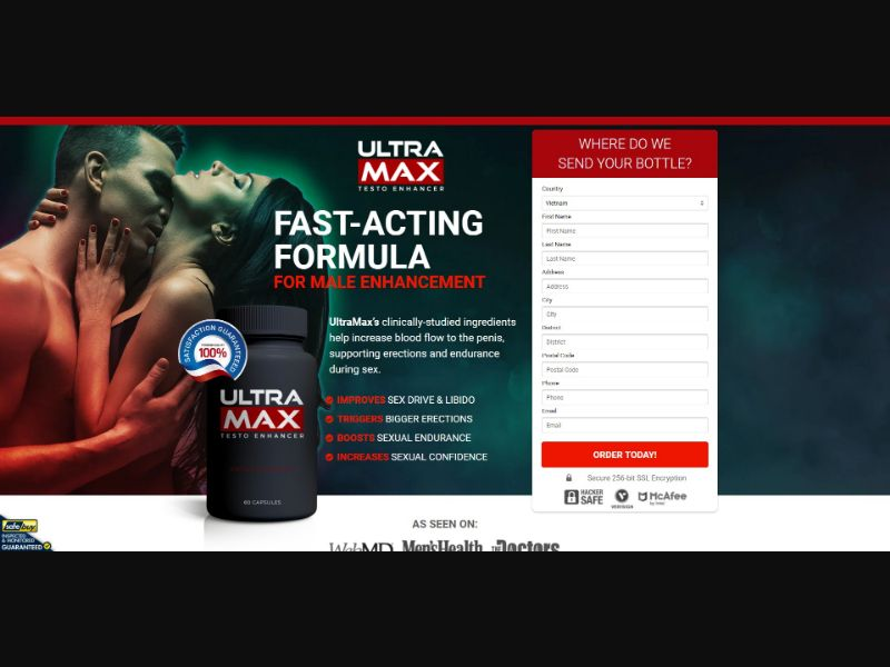 Ultra Max Testo Enhancer - Male Enhancement - SS - [VN]