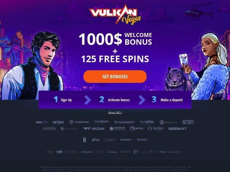 Vulkan Vegas - Welcome Page - FB + Apps - CA, NZ