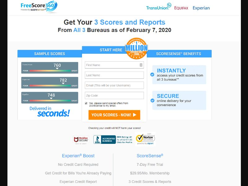 US - FreeScore360 - Email - CPA
