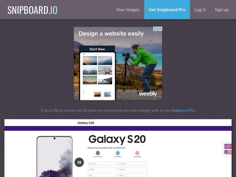 BigEntry - Samsung Galaxy S20 v1 SG - CC Submit (english/malay)
