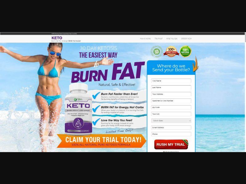 Slim Keto - Diet & Weight Loss - Trial - NO SEO - [US]