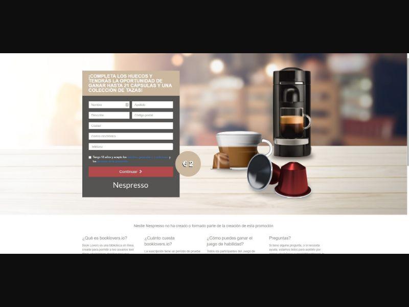 Nespresso Original Capsules - Sweepstakes & Surveys - Trial - [ES]