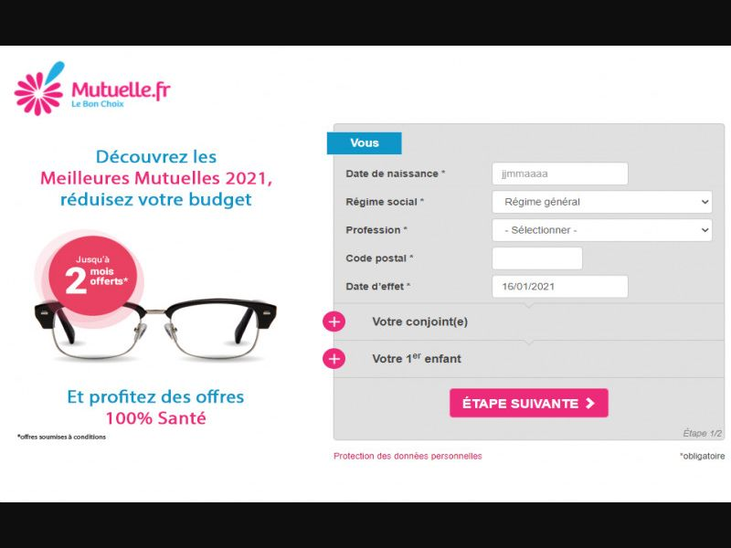 Mutuelle.fr - Email only - CPL