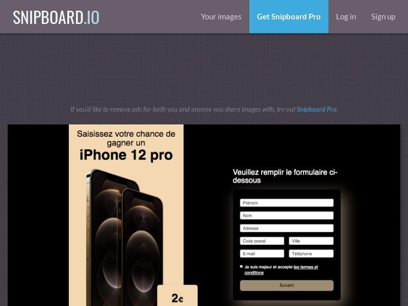 BigEntry - iPhone 12 Pro v1 FR - CC Submit