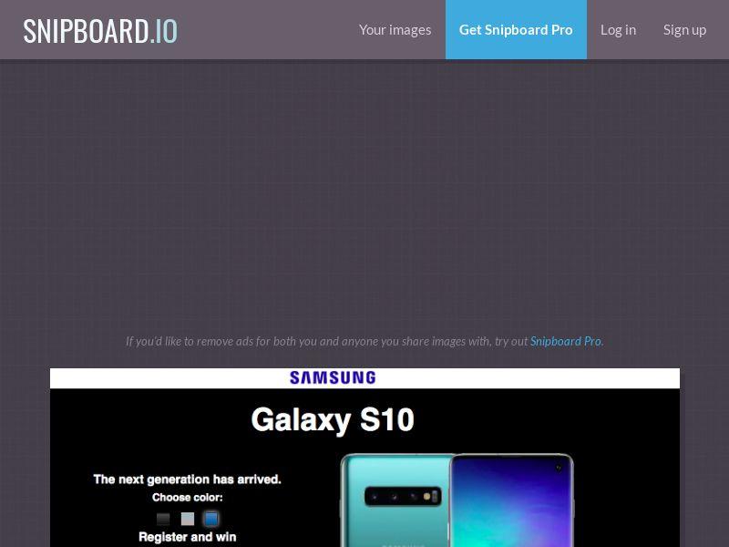 G33K - Samsung Galaxy S10 NZ - CC Submit