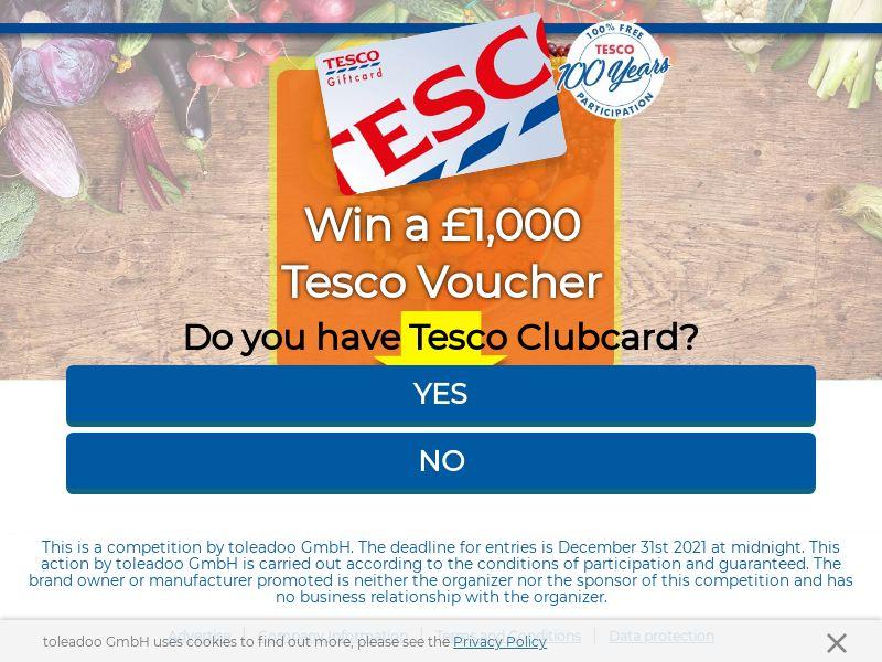 Tesco £1,000 Voucher - UK