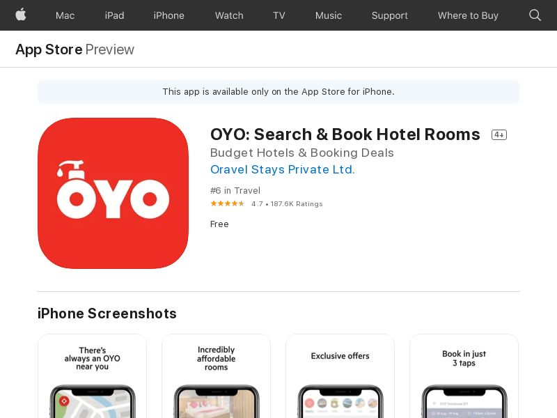 OYO: Book Rooms - US - IOS (Hard KPI) (CPR=signup)