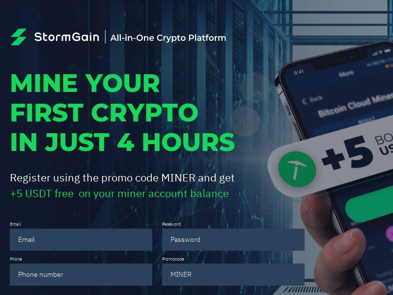 StormGain - Crypto Mining (INTL) (CPS)