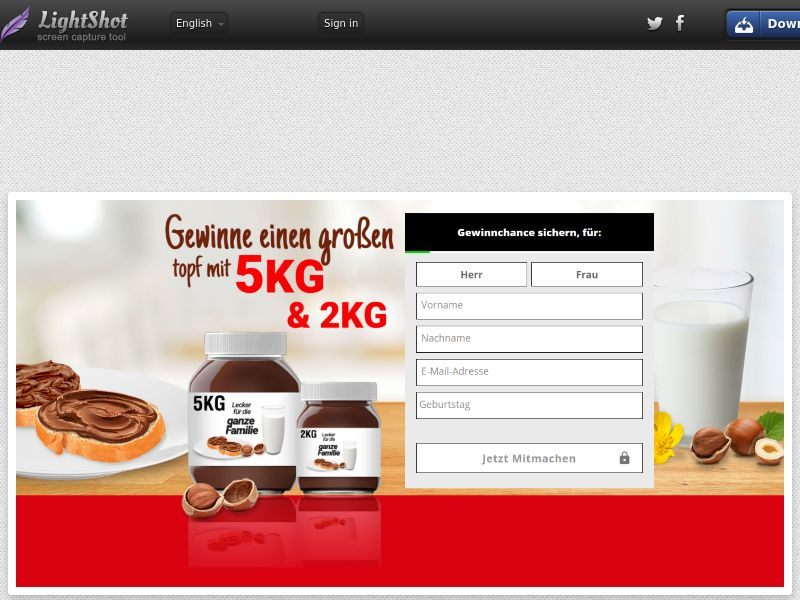 Nutella Sweepstakes - CPL DE