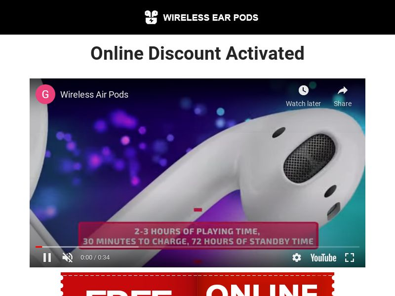 Discounted Earpods (Trial) (US) (Survey Allowed)