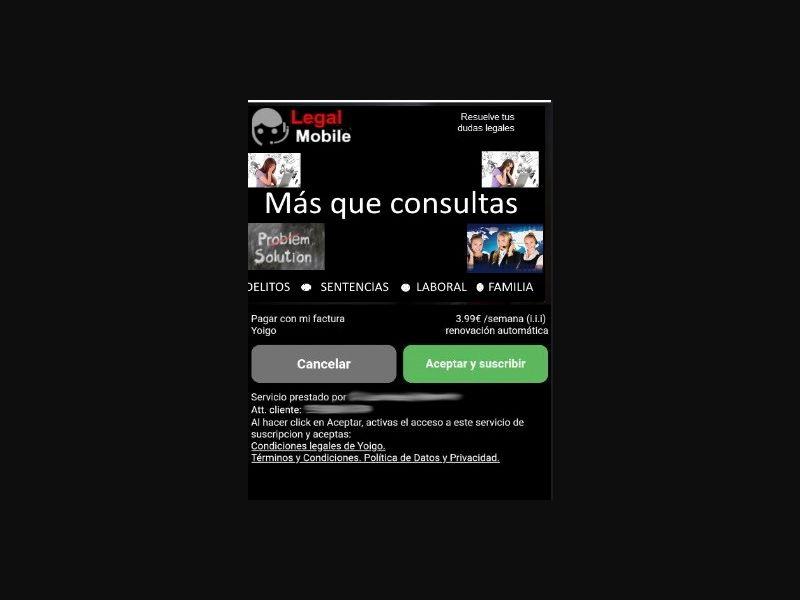 Yoigo - 2 clicks - CPA - ES