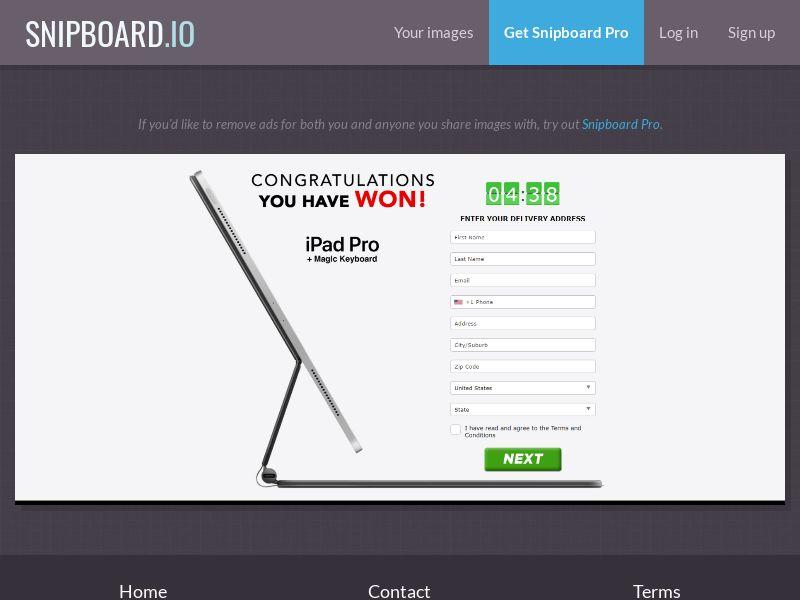 37720 - US - AbsoluteWinner - Apple iPad Pro + Magic Keyboard + Apple TV+ 12 Months - CC submit