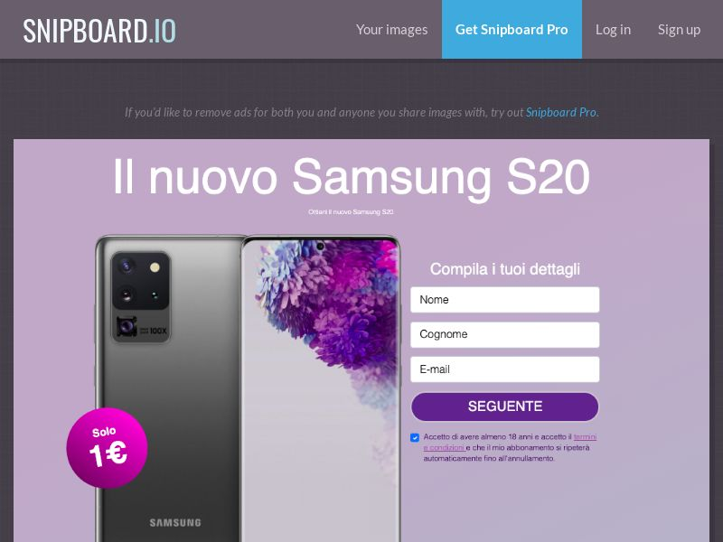 37200 - IT - WinThings - Samsung Galaxy S20 - CC submit