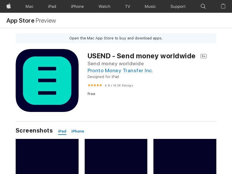 USEND - Send money worldwide [DUPLICATED]