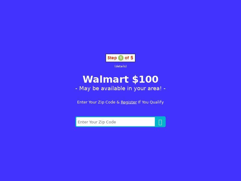 My Area Deals: Walmart $100