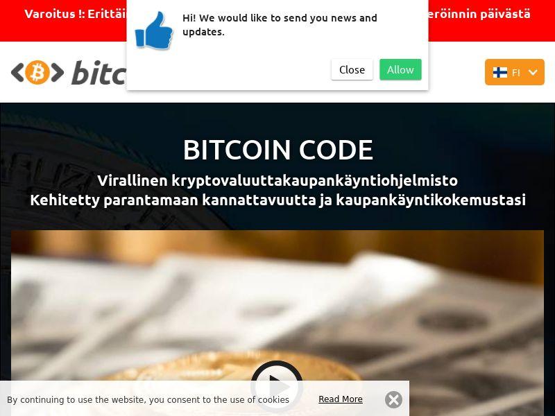 Bitcoin Code Finnish 3122