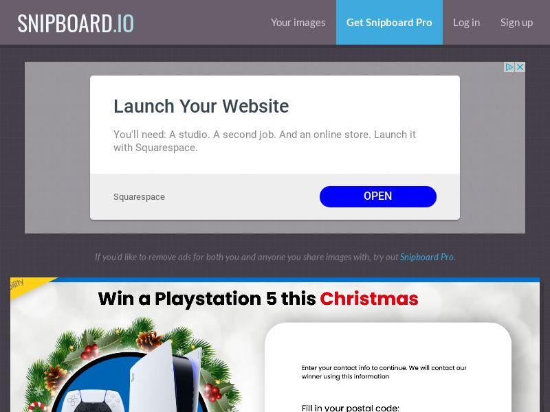 YouSweeps - Win a playstation 5 christmas CA - SOI