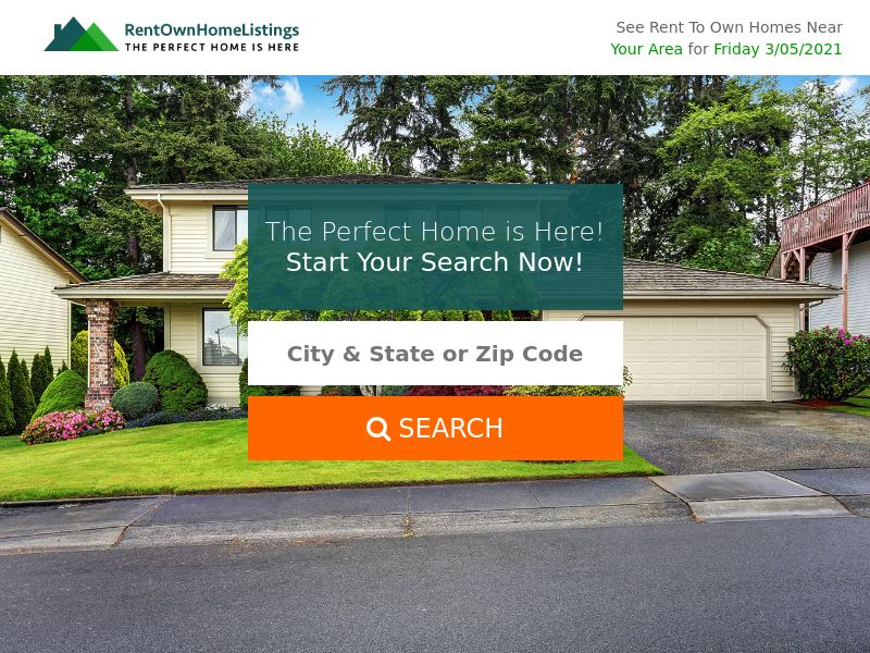 Rent To Own Home Listing (US) (CPL) (Personal Approval)