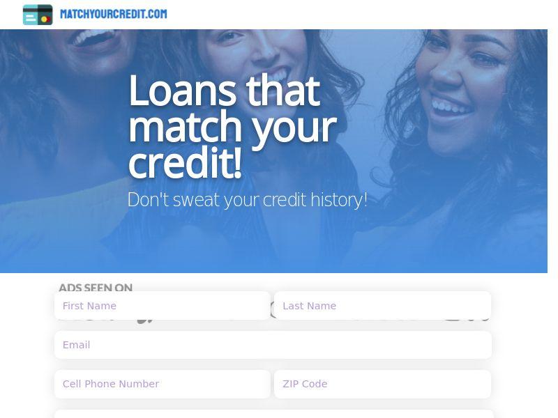 MatchYourCredit.com - Loans that match your Credit - US - CPL [DIRECT]