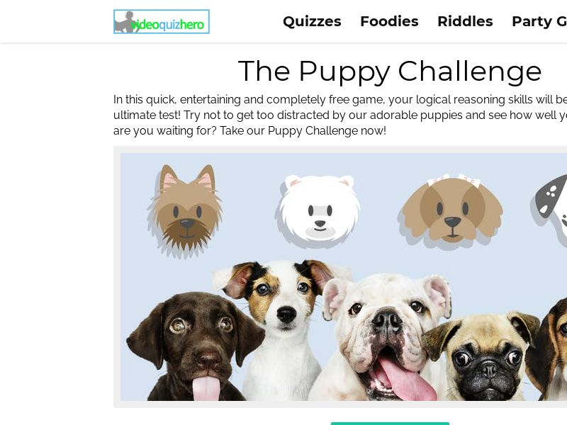Puppy Challenge! EASY and FUN! (Quiz) [Mobile & Tablet] - Intl