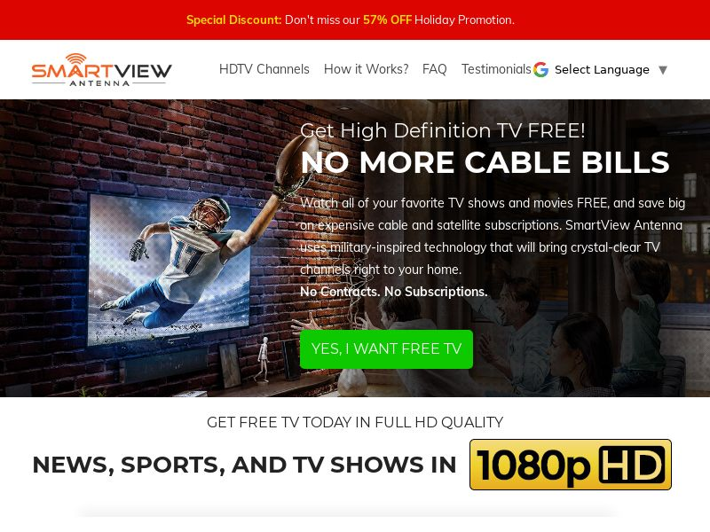SmartView TV Antenna [US] (Email Only) - CPA {Subid Approval Required}