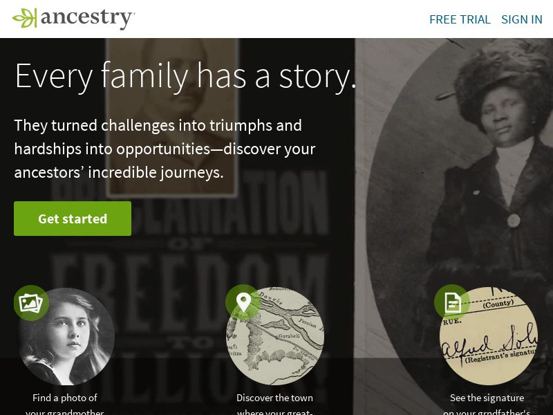 Ancestry US, UK, CA, AU