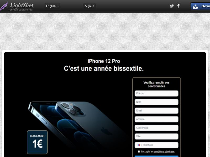 Win iPhone 12 (FR) (Trial) (Personal Approval)
