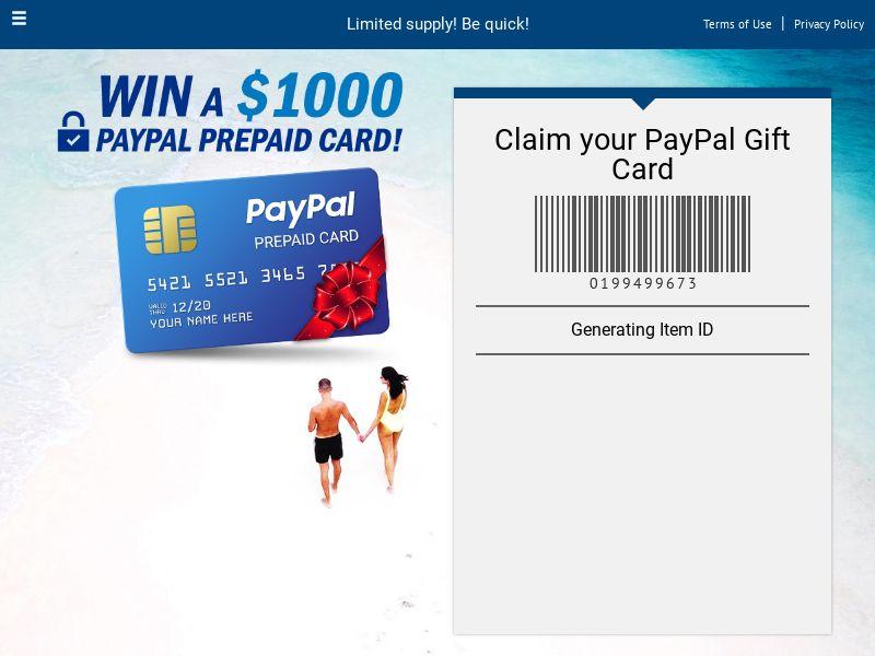 win a paypal gift card V 2.0 - UK