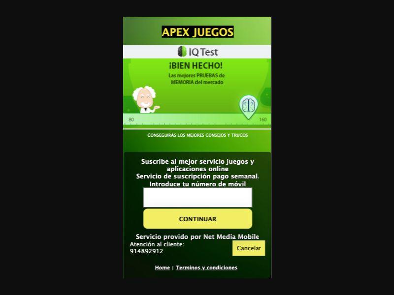 IQ TEST - 2 click - ES - Vodafone - Online Games - Mobile
