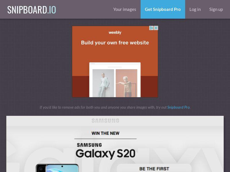 MagnificentPrize - Samsung Galaxy S20 OM - CC Submit