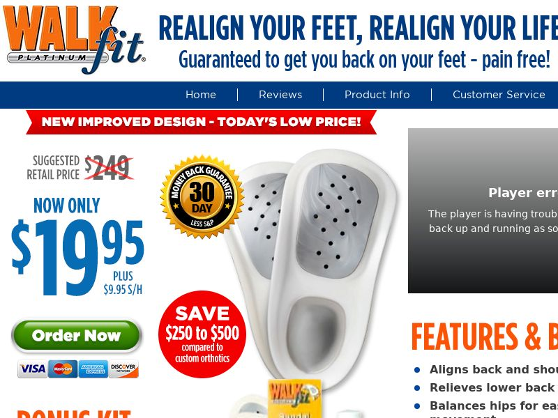 As Seen on TV- WalkFit - Realign Your Feet, Realign Your Life
