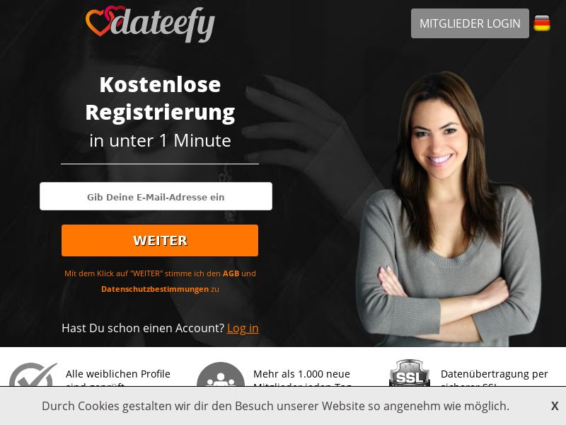 Dateefy.com - Revshare - Responsive - DE